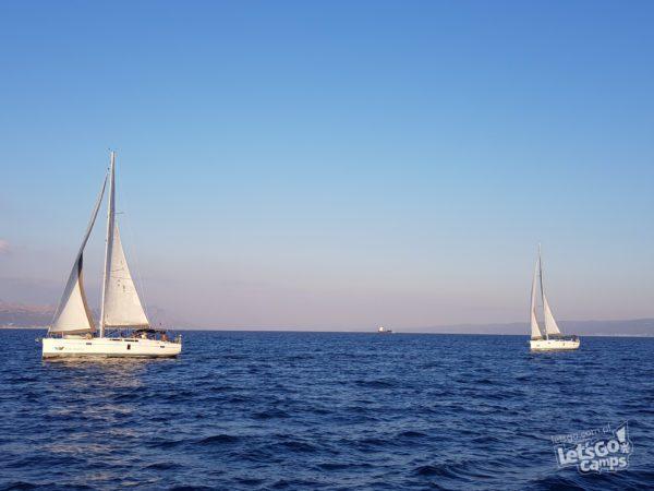 jachty na horyzoncie